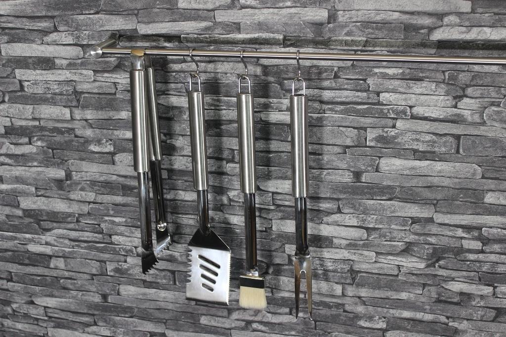 edelstahl grillzubeh r extra lang und optional mit signatur. Black Bedroom Furniture Sets. Home Design Ideas
